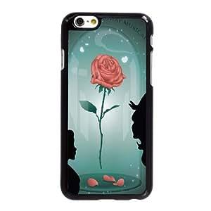 La Bella y la Bestia caso 5,5 pufunda LGadas O0R43F7DR funda iPhone 6 6S Plus funda XA42ET negro
