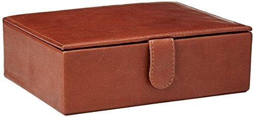 Box Presentation Leather - Piel Leather Large Leather Gift Box, Saddle