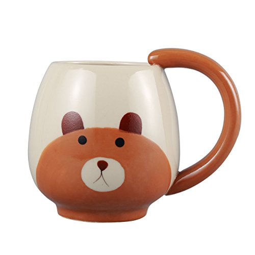 Neolith Cute Animal Ceramic Coffee Mugs Gits Mug for Kids & Animal Lovers Gifts Box Package (15 oz, Bear) by Neolith