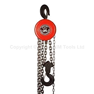 181742 2 Ton Chain Block Hoist Garage Car Engine Heavy Load Lifting Tool