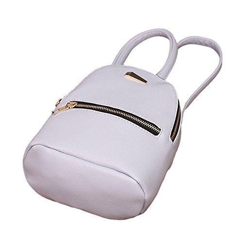 PU Leather Backpack School Bags Shoulder Gray Rucksack Backpacks Bag PLOT Women's Travel q4v85Wp1