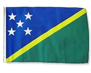 """12""""x18funda de las Islas Salomón bandera barco coche jardín Premium colores vivos y ultravioleta resistente a la decoloración mejor jardín Outdor lona encabezado y poliéster MATERIAL bandera"""