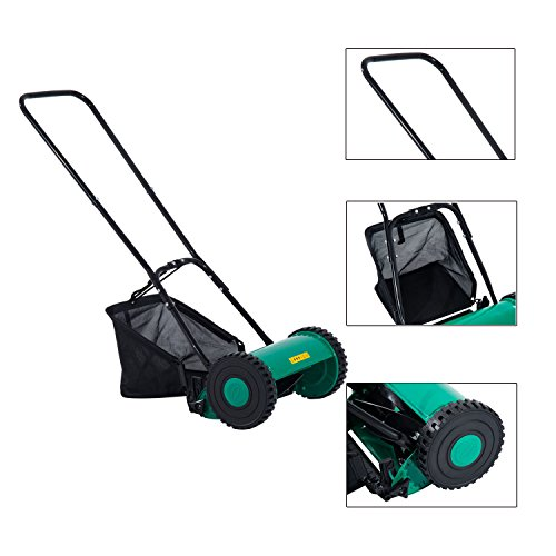 Globe House Products GHP Outdoor Green & Black Compact Light-weight 6.6 Gallons Capacity Push Lawn Mower by Globe House Products