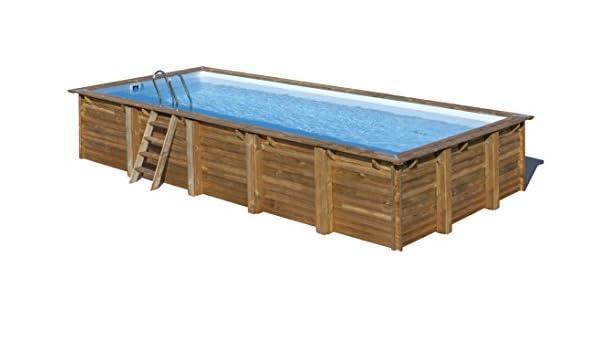 Piscina de madera GRE rectangular Braga Wooden Pool GRE 790095: Amazon.es: Juguetes y juegos