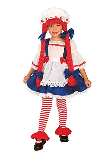 Raggedy Ann Toddler Costume (Yarn Babies Girl Ragdoll Costume, Toddler)