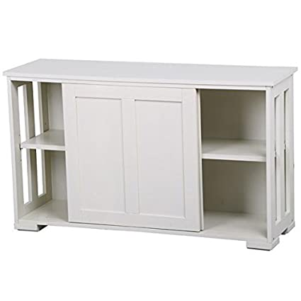 Delicieux Yaheetech Antique White Sliding Door Buffet Sideboard Stackable Cabinets  Kitchen Dining Room Storage Cupboard