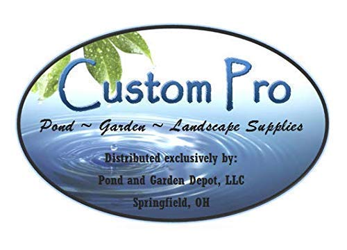Custom Pro Floating Water Fountain with 48 White LED Lights, 1100 GPH Pond Pump, 25 Foot Power Cord & More - Easy Installation