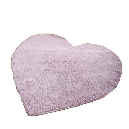 GHGMM Carpet Rug Mat,Nordic Carpet Heart Shaped Carpet Bedroom Arrangement Carpet Basket Mat,Pink,120120CM ()
