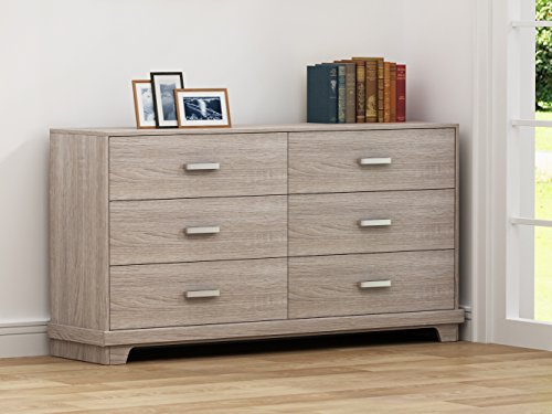 Homestar Albany Dresser with 6 drawers in Sonoma Finish ()