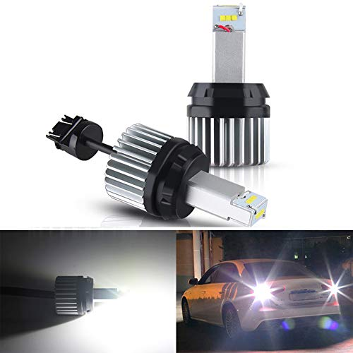 ROCCS Canbus Error Free 3056 3156 3057 3157 4157 LED Bulbs for Backup Reverse Lights Tail Brake Signal light, Extremely Bright CSP 9-SMD 2100 1000 lumens Plug & Play 6500k