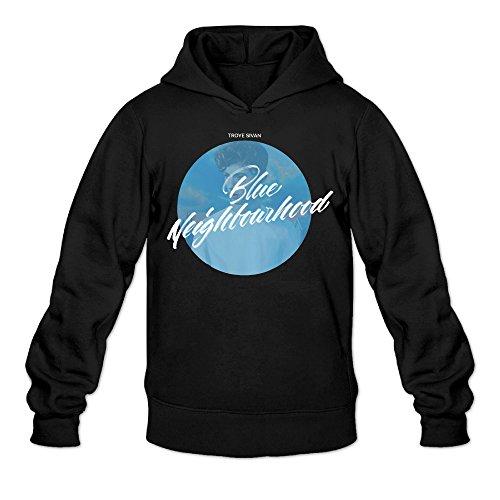 - Rebecca Funny Troye Sivans Blue Neighbourhood Men's Long Sleeve Hoodie L Black
