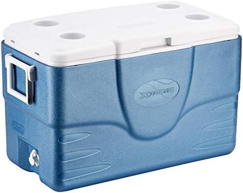 Coleman 52QT Cool Box Xtreme, Multicolor (Azul/Blanco), 49 litros ...