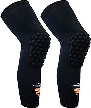 COOLOMG (Pair) Basketball Knee Pads For Kids Youth Adult Long Leg Knee Sleeves Protector Gear EVA Digital Camo