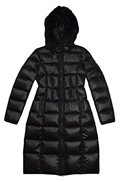 Coat Down Bcbgeneration Bcbgmaxazria Fur Black PYUwq