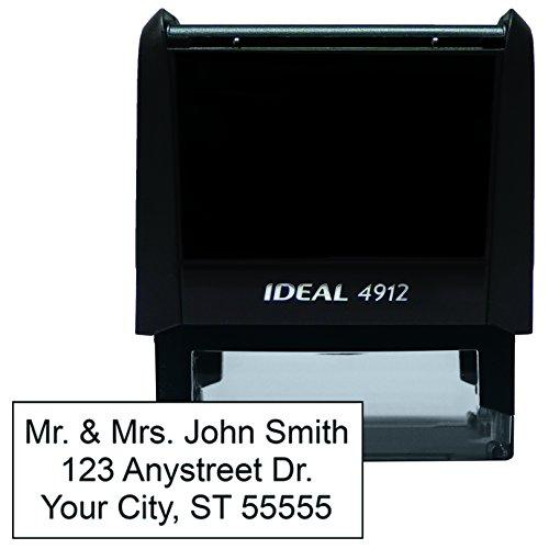 Pre Inked Address Stamp (3 Line Address Stamp 3/8'' x 1-7/8'')