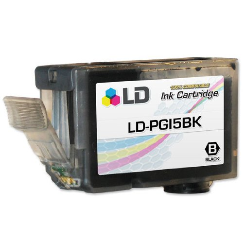 LD Compatible Replacement for Canon PGI-5BK (0628B002) Pigment Black Ink Cartridge for use in Canon PIXMA iP4500, iP6600D, iP4300, Pro 9000 Mark II, MP970, Pro 9000, MP800, & More (Ink Ii Canon 9000 Pro)