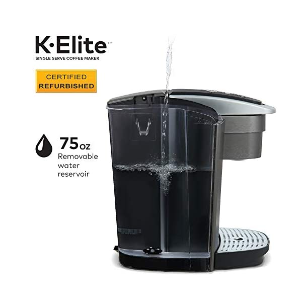 Keurig K Elite Coffee Maker, Single Serve K Cup Pod Coffee Brewer, With Iced Coffee Capability, Brushed Silver
