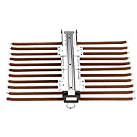 FKhanger Pull Out Wardrobe Trousers Sliding Rail,Pants Rack with Damper,Tie Holder Rail for Cabinet,22 Arms Organizer Rack-Brown
