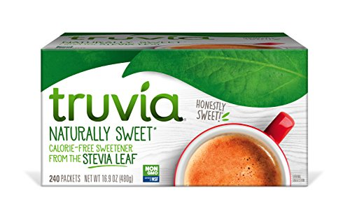 Truvia Natural Stevia Sweetener Packets, 240-Count Box (Net Wt. 16.92 oz)