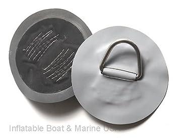 Hinchable barco D-Ring Pad/parche - Hypalon Gray 6