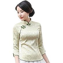 Shanghai Story Women Chinese Cheongsam Tops Qipao Shirts Tang Suit Blouses