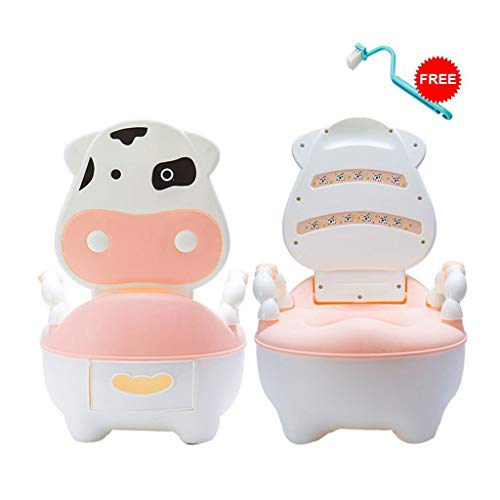 (callm Lovely Cute Cow Potty Chair for Boys and Girls Toddler Potty Training Toilet (Pink))