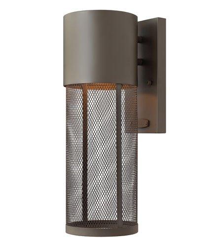 Hinkley 2300KZ, Aria Cast Aluminum Outdoor Wall Sconce Lighting, 75 Total Watts, Bronze