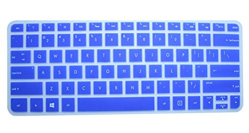 """CaseBuy Semi-Blue Ultra Thin Soft Silicone Gel Keyboard Protector Skin Cover for 13.3-Inch HP ENVY 13 Spectre XT 13.3"""" Ultrabook, such as 13-2050nr, 13-2150nr, 13-2057nr, 13-2000, 13- 2100 , 13-2101tu, 13-2102tu, 13t-2000, 13t-2100 US Layout Laptop(if your """"enter"""" key looks like """"7"""", our skin can't fit)"""