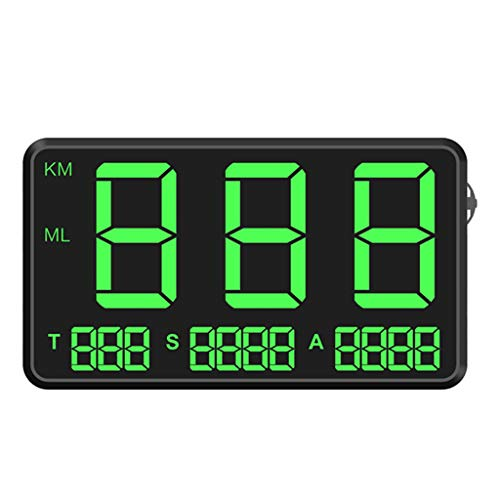 Price comparison product image Opef Original Universal GPS Head Up Display Speedometer Odometer Car Digital Speed Display MPH Over Speeding Alarm Car Clock for All Vehicles