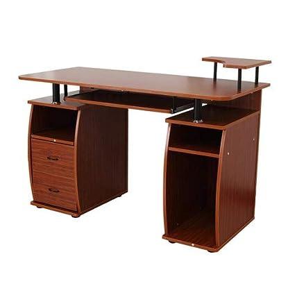 Mesa de oficina de Homcom para ordenador, escritorio de sobremesa ...