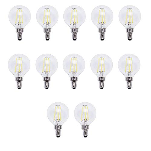 EcoSmart 40-Watt Equivalent G16.5 Dimmable Energy Star Clear Filament Vintage Style LED Light Bulb Daylight (12-Pack)