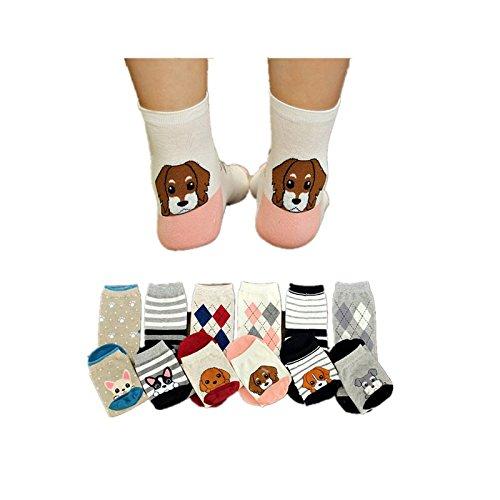 5 Pares XIU*RONG Las Alumnas De Calcetines Calcetines Color Puro Shutiao Cotton Socks Socks ,F,Jengibre