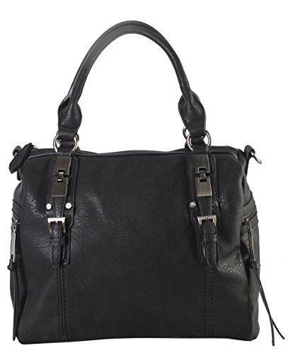 diophy-double-side-pockets-casual-tote-with-removable-long-strap-cz-3722-black