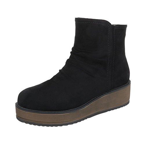Ital-Design Women's Boots Flat Classic Boots at Black B1hkxmr7R