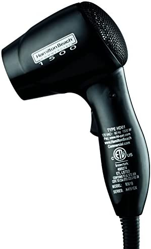 Hamilton Beach Commercial 8301B Black 2-Speed 1500W Hair Dryer
