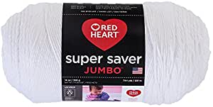 Red Heart  Super Saver Jumbo Yarn, White