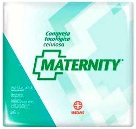 Compresas Maternity Indas celulosa 25 uds: Amazon.es: Salud y cuidado personal