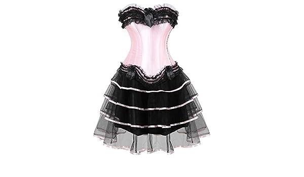 NSYHKB Corsés Rosados para lencería Vestido de Baile Overbust ...