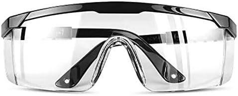 Konesky Gafas de Seguridad Gafas Protectoras Cristales Transparentes a Prueba de Polvo para Laboratorio Qu/ímica Seguridad en el Trabajo