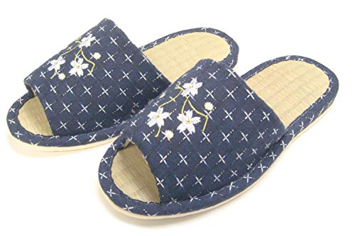 904988b31592f KNP GREEN LIFE Knp29809t japanese Indoor Bamboo Tatami Slippers with  Flower m(7