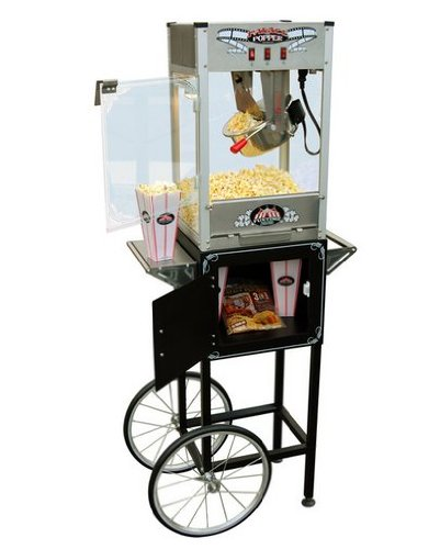 Funtime Palace Popper 8oz Hot Oil Popcorn Machine with Cart by Funtime