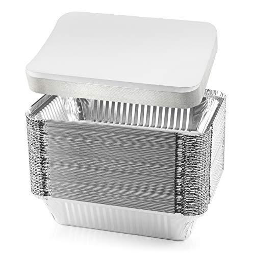 Nyhi 50 Pack Heavy Duty Disposable Aluminum Oblong Foil
