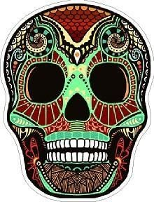Day of the Dead Decal Rockabilly Rock Vintage Sugar Skull Sticker #15