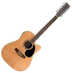 Classic Cantabile WS-12 - Guitarra acústica (con preamplificador y ecualizador)