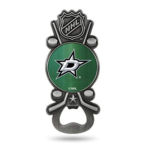 Rico Industries NHL Dallas Stars Magnetic Metal Bottle Opener Party Starter