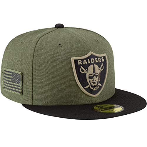 New Era Oakland Raiders On Field 18 Salute to Service Cap 59fifty 5950 Fitted Limited ()