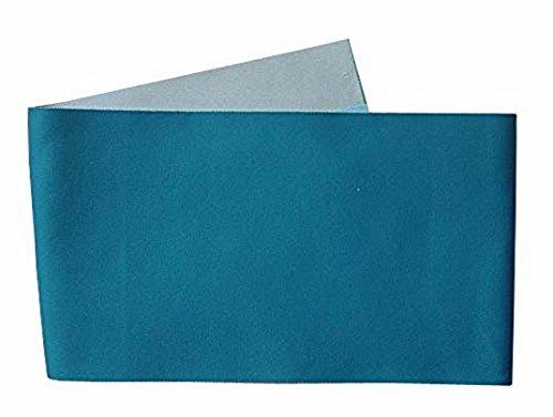 単語オンスポットリバーシブル(アクア 薄いグレー)長尺 無地-z 半巾帯 半幅 大きいサイズ Lサイズ