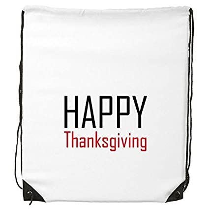 45bdaac3747 Celebrate Thanksgiving Day Blessing Festival Holiday Gala Celebration Words  Drawstring Backpack Fine Lines Shopping Creative Handbag
