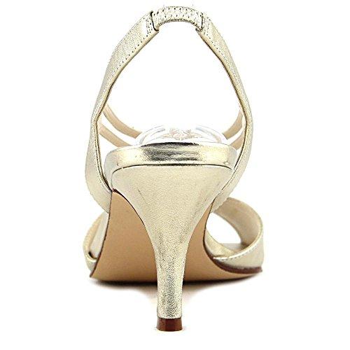 Caparros Donna Philomena Open Toe Da Sposa Sandali Slingback Metallizzati Oro