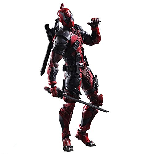 Figure Play Arts 2 Action (Toy, Play, Fun, Deadpool Figure Wolverine X Men X-MEN Play Arts Kai Deadpool Wade Winston Wilson Play Art KAI PVC Action Figure 26cm Doll Toy, Children, Kids, Game)